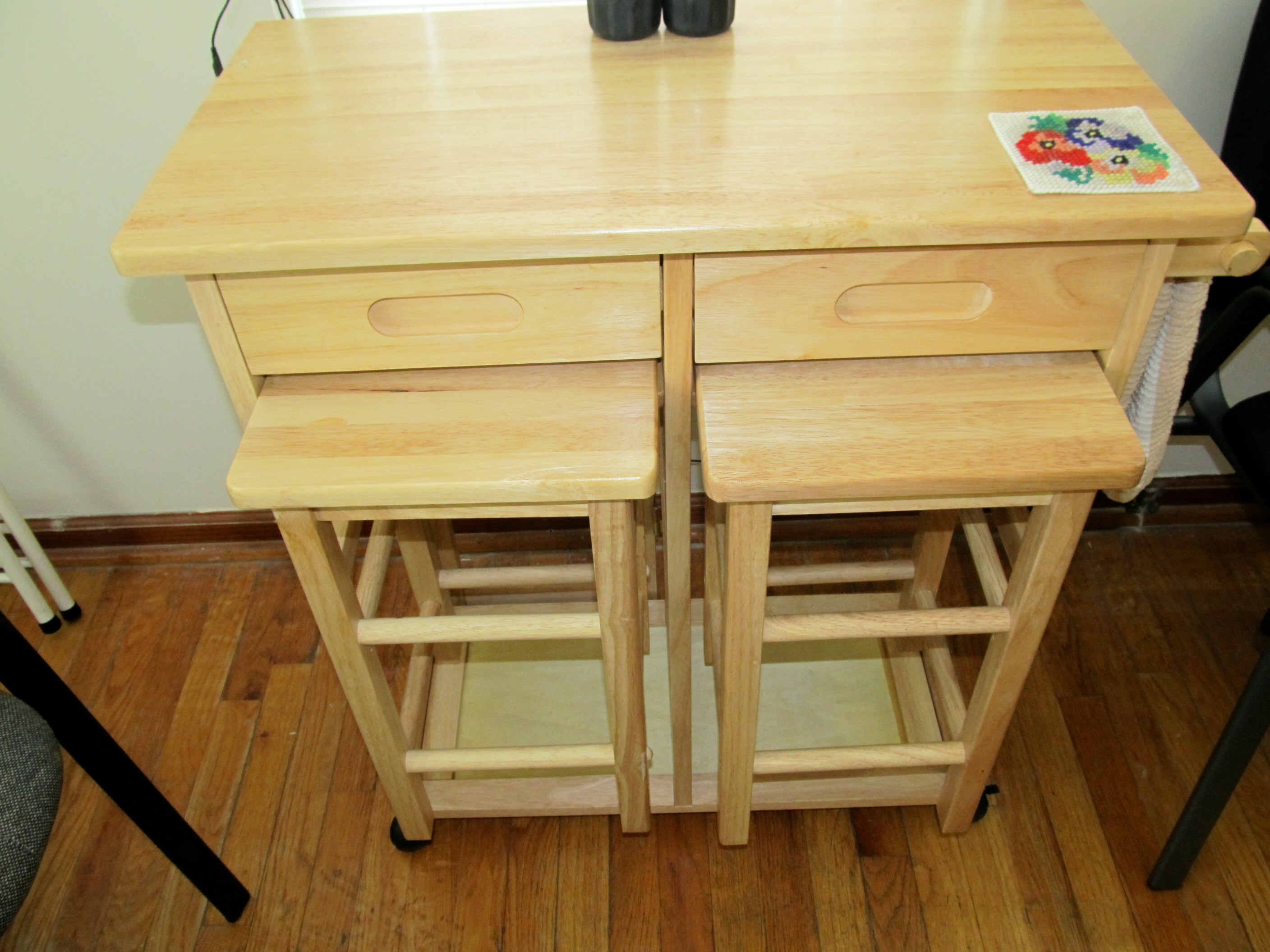 Kitchen Table with Stools Underneath